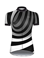 cheap -21Grams Women's Short Sleeve Cycling Jersey Nylon Polyester Black / White 3D Stripes Gradient Bike Jersey Top Mountain Bike MTB Road Bike Cycling Breathable Quick Dry Ultraviolet Resistant Sports