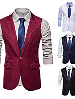cheap -Gentleman Kingsman Vintage Masquerade Vest Waistcoat Men's Slim Fit Costume White / Black / Red Vintage Cosplay Event / Party Sleeveless