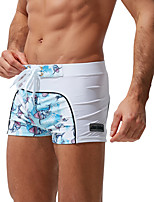 cheap -Men's Swim Trunks Spandex Swimwear Breathable Quick Dry Drawstring - Swimming Patchwork Summer / Micro-elastic