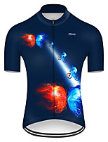 cheap -21Grams Men's Short Sleeve Cycling Jersey Nylon Polyester Red+Blue Butterfly Gradient Bike Jersey Top Mountain Bike MTB Road Bike Cycling Breathable Quick Dry Ultraviolet Resistant Sports Clothing