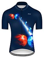 Недорогие -21Grams Муж. С короткими рукавами Велокофты Нейлон Полиэстер Красный + синий Бабочка Градиент Велоспорт Джерси Верхняя часть Горные велосипеды Шоссейные велосипеды / Слабоэластичная / Дышащий