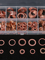 cheap -200PCS M5-M14 Copper Washer Gasket Set Flat Ring Seal Kit With Storage Box Case