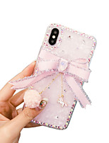 cheap -iPhone11Pro Max Princess Wind Shell Pattern Rhinestone Phone Case XS Max Bow Female Soft Shell 6 7 8Plus SE 2020 Protective Case