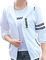 cheap -Women's Hiking Skin Jacket Hiking Jacket Summer Outdoor Waterproof Sunscreen Breathable Quick Dry Jacket Top Full Length Visible Zipper Running Hunting Fishing White / Black / Grey / Green
