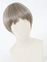 cheap -Cosplay Wig Lolita Straight Cosplay Halloween Bob Neat Bang Wig Short Light Brown Synthetic Hair 12 inch Women's Anime Cosplay Comfortable Light Brown