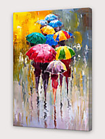 cheap -IARTS®Hand Painted Love in the rain Oil Painting   with Stretched Frame For Home Decoration