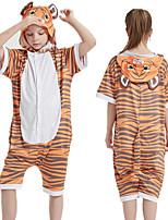 cheap -Kid's Kigurumi Pajamas Tiger Onesie Pajamas Ice Silk Orange Cosplay For Boys and Girls Animal Sleepwear Cartoon Festival / Holiday Costumes / Leotard / Onesie