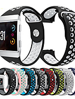 cheap -Double Color Sport Silicone Bracelet Watch Band for Fitbit ionic Smart Watch Belt Watachband Sporting Goods Strap Band for Fitbit ionic