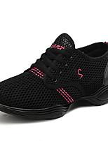 cheap -Women's Latin Shoes / Jazz Shoes / Dance Sneakers Mesh / PU / Synthetics Flat / Sneaker Flat Heel Dance Shoes Black / Gold / Black / Red / White