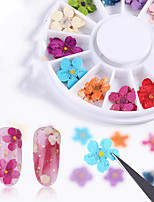 cheap -12 pcs Creative / Light and Convenient Plastics Nail Jewelry For Finger Nail Flower nail art Manicure Pedicure Party / Evening / Festival Sweet / Cute
