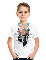 cheap -Kids Boys' Basic Animal Print Short Sleeve Tee White