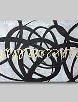 Недорогие -ручная роспись маслом - абстрактный абстрактный пейзаж современный современный натянутый холст