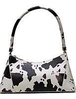 cheap -Women's Zipper PU Leather Top Handle Bag Leather Bags White / Black / Red