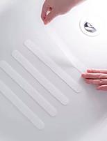 cheap -5pcs Stair Steps Anti-slip Rubber Bathroom Bathtub Transparent Non-slip Stickers With Shower Strip