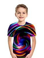 cheap -Kids Boys' Street chic Rainbow Short Sleeve Tee White