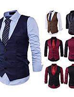 cheap -Gentleman Kingsman Vintage Masquerade Vest Waistcoat Men's Slim Fit Costume Black / Burgundy / Camel Vintage Cosplay Event / Party Sleeveless