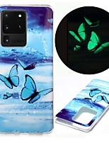 cheap -Case For Samsung Galaxy S20 S20 Plus S20 Ultra Glow in the Dark Pattern Back Cover Butterfly TPU for Galaxy A21 A11 A01 A70E A51 A71