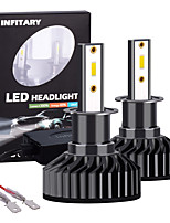 cheap -INFITARY 2pcs High Power LED H3 Auto Car Headlight Bulb 72W 8000LM LED Car Light Bulbs