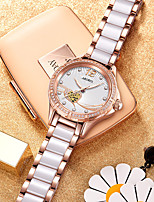 cheap -Women's Quartz Watches Casual Elegant Ceramic Quartz Rose Gold Water Resistant / Waterproof Noctilucent Analog