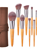 cheap -Professional Makeup Brushes 10pcs Professional Full Coverage Comfy Artificial Fibre Brush Wooden / Bamboo for Blush Brush Foundation Brush Makeup Brush Eyeshadow Brush