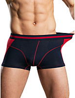 cheap -Men's Basic Boxers Underwear - Normal Mid Waist Royal Blue Gray M L XL