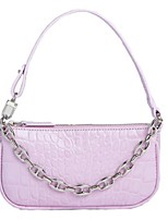 cheap -Women's Zipper PU Leather Crossbody Bag Leather Bag Solid Color White / Blue / Purple