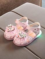 cheap -Girls' LED Shoes PVC Sandals Little Kids(4-7ys) White / Fuchsia / Pink Summer