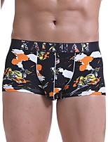cheap -Men's Print Boxers Underwear - Normal Low Waist Light Blue Black Blue M L XL