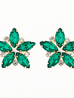 cheap -Women's AAA Cubic Zirconia Earrings Classic Mini Stylish Luxury Platinum Plated Gold Plated Earrings Jewelry Green For Wedding Daily 1 Pair