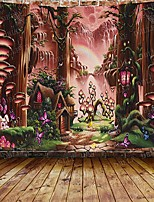 cheap -Garden Theme / Bohemian Theme Wall Decor Polyester Contemporary / Bohemia Wall Art Wall Tapestries Decoration Fantasy forest tapestry a big tree of life forest tapestry fantasy plant magic forest tape