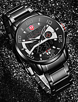cheap -KADEMAN Men's Sport Watch Digital Modern Style Stylish Stainless Steel Water Resistant / Waterproof Calendar / date / day Alarm Clock Analog - Digital Outdoor Cool - Black / Silver Black+Gloden