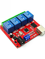 cheap -4 Channel DC 12V Computer USB Control Switch Drive Relay Module PC Intelligent Controller 4-way 12V Relay Module