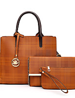 cheap -Women's Tassel / Zipper PU Leather Bag Set 2020 Striped 3 Pcs Purse Set Black / Blue / Red / Fall & Winter