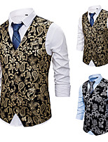 cheap -Plague Doctor Vintage Gothic Steampunk Masquerade Vest Waistcoat Men's Costume Golden / Silver Vintage Cosplay Event / Party Sleeveless