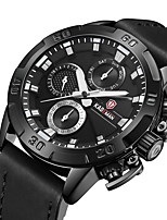 cheap -KADEMAN Men's Sport Watch Quartz Modern Style Stylish Genuine Leather Water Resistant / Waterproof Analog Casual Big Face - Black / Silver Black+Gloden Black