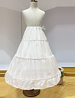 cheap -Princess Petticoat Hoop Skirt Girls' Movie Cosplay White Petticoat Polyester