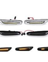 cheap -Dynamic LED Side Marker Indicator Repeater Lights WhiteAmber For E36 E46 E90 E91 E92 E93 E60 E61 E81 E82 E87 E88 X1 X3 X5