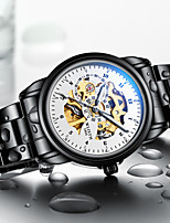 cheap -WLISTH Men's Mechanical Watch Automatic self-winding Modern Style Stylish Stainless Steel Black 30 m Water Resistant / Waterproof Noctilucent Cool Analog Fashion Cool - White Black Blue Two Years