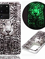 cheap -Case For Samsung Galaxy S20 S20 Plus S20 Ultra Glow in the Dark Pattern Back Cover Leopard Tiger TPU for Galaxy A21 A11 A01 A70E A51 A71