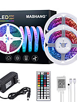cheap -MASHANG 32.8ft 10M LED Strip Lights RGB Tiktok Lights 600LEDs Flexible Color Change SMD 2835 with 44 Keys IR Remote Controller and 100-240V Adapter for Home Bedroom Kitchen TV Back Lights DIY Deco