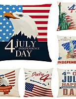 cheap -Set of 6 Independence Day Room Decoration Pillow Cover 4th Of July Pillow Cases Sofa Cushion Cover Home Pillow Case Pillow Covers