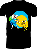 cheap -Inspired by Adventure Time Cosplay Costume T-shirt Polyster Print Printing T-shirt For Men's