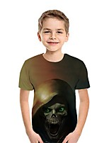 cheap -Kids Boys' Street chic 3D Short Sleeve Tee Brown
