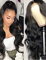 cheap -Synthetic Lace Front Wig Wavy Gaga Middle Part Lace Front Wig Long Black#1B Synthetic Hair 22-26 inch Women's Heat Resistant Women Hot Sale Black / Glueless