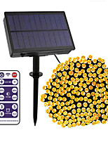 cheap -12-key Remote Control  50m String Lights 500 LEDs High Power LED 8 Mode Control  Dimming  Time Setting  Warm White White Blue Waterproof Outdoor Solar 12 V 1Set