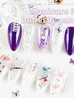 cheap -1 pcs Butterfly Nail Glitter  Wear-Resistant / Water Resistant / Multi Function Wooden Decals For Finger Nail Butterfly nail art Manicure Pedicure Nail Art Decoration