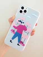 cheap -Phone Case For Apple iPhone 7 iPhone 8  iPhone 11 Pro Max Shockproof  Frosted  Lovely Girl Pattern Back Cover Sexy Lady Scenery  Tree TPU Phone accessories iPhoneX iPhoneXR iPhone XS Max New