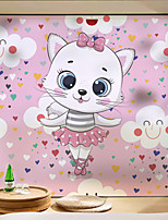 cheap -Cute Cat Pattern Matte Window Sticker Bathroom Kitchen Kids Room Shop Living Room Bedroom Balcony Window Film 60*58cm
