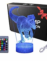 cheap -Dinosaur 3D Night Light T-Rex 3D Illusion 7 Colors Changing Lamps with Smart Touch & USB Cable for Home Decorations Lights Kids Boys Dino Gifts Toys Age 1 2 3 4 5 6 7 8 Year Old