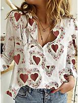 cheap -Women's Shirt Graphic Prints Print Shirt Collar Tops White